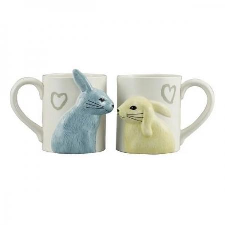 【sunart】日本sunart 對杯 - 兔兔親親 趣味 送禮 可愛
