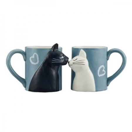 【sunart】日本sunart 對杯 - 貓貓親親 趣味 送禮 可愛