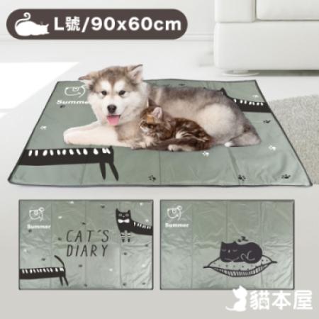 貓本屋 冰晶軟凝膠 寵物降溫墊(L號/90x60cm)