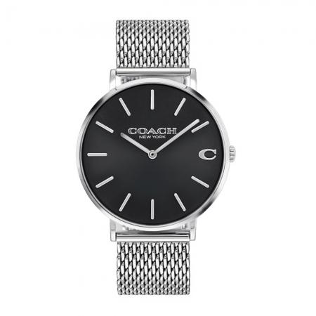 COACH l 經典大錶面C字LOGO米蘭帶手錶 白鋼CO14602144