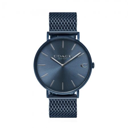 COACH l 經典大錶面C字LOGO米蘭帶手錶 深藍CO14602146