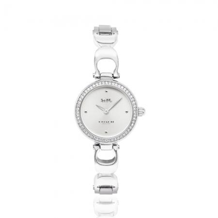 COACH l 經典C字LOGO手環式手錶 / 白鋼CO14503170