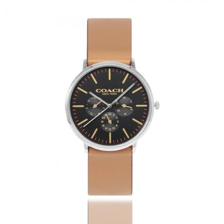 COACH l 優雅三眼多功能手錶 - 褐 CO14602391
