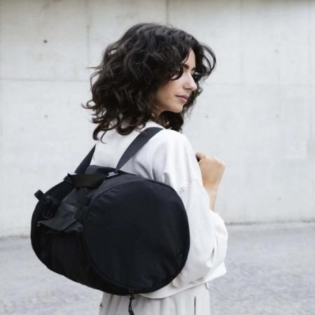 【德國Notabag】諾特輕旅圓筒包 - 雅痞黑 手提包 後背包 提袋 瑜珈包 鞋包