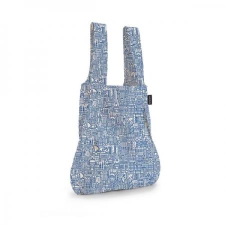 【德國Notabag】 諾特包-HELLO WORLD (藍色城市款) 手提包 後背包 提袋