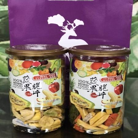 【牧木ㄦ有機農場】蔬果脆片,健康零嘴(130g/罐)