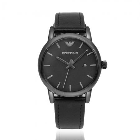 Emporio Armani 亞曼尼 | 原廠平輸精品手錶 經典簡約黑男錶 - 黑AR1732