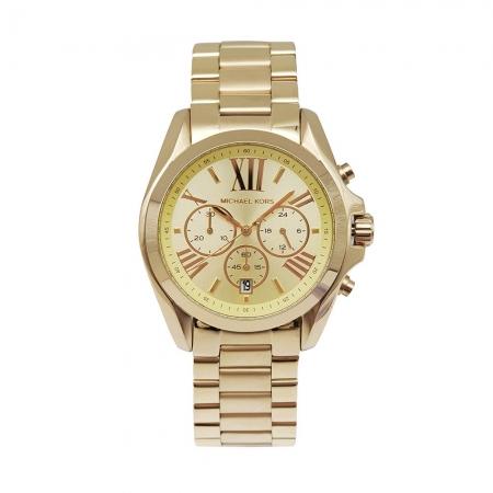 MICHAEL KORS美國原廠平行輸入手錶 | 羅馬假期三眼計時金色腕錶/ MK5605