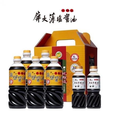 屏大薄鹽醬油710mlx5+屏大香菇素蠔油300mlx2