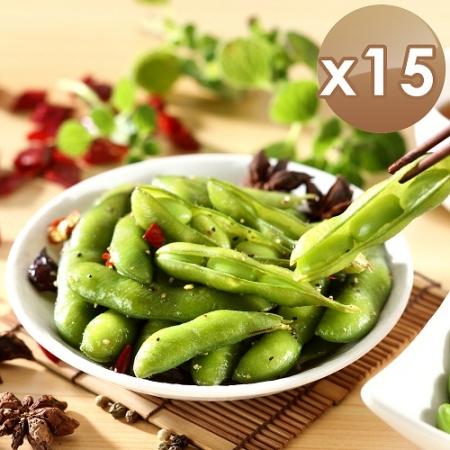 【艾其肯】涼拌黑胡椒毛豆莢-15入組
