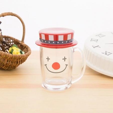 【sunart】sunart 玻璃馬克杯 - 小丑 趣味 送禮 可愛 馬克杯