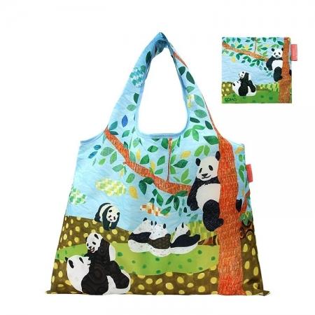 【日本PrairieDog】環保隨身設計包 - 貓熊的午後