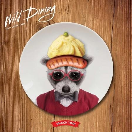 【Mustard】英國 Mustard 動物餐盤 7 吋 - 浣熊 趣味 送禮 可愛 陶瓷