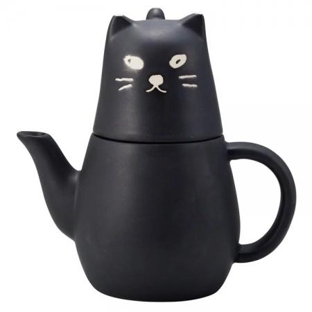 【sunart】日本sunart 杯壺組 - 大黑貓(附濾網) 趣味 送禮 可愛
