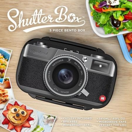 【Mustard】英國 Mustard 餐盒 - 復古相機 便當盒 餐盒 趣味 送禮 可愛
