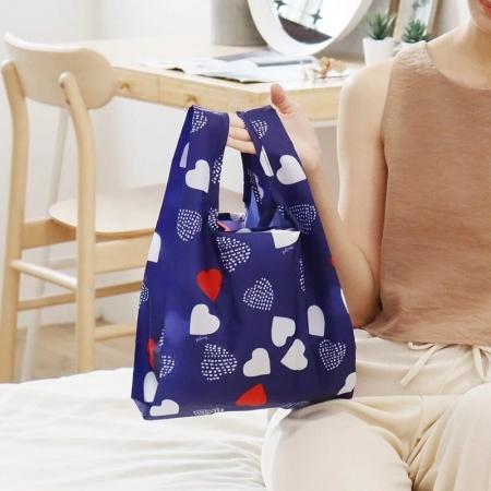 新色【日本PrairieDog】環保隨身摺疊口袋包 - 心之烙印