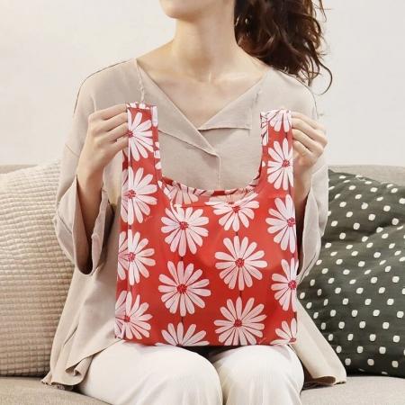 新色【日本PrairieDog】環保隨身摺疊口袋包 - 小雛菊