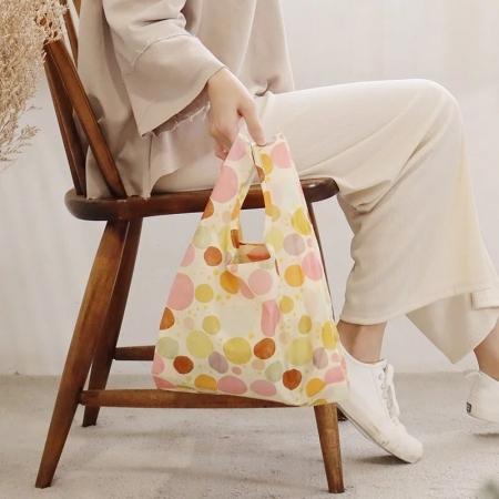 新色【日本PrairieDog】環保隨身摺疊口袋包 - 太陽雨