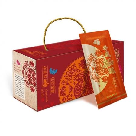 【阿嬤的幸福金絲麵】金絲富貴-絲絲入口禮盒組★(每組內含:金絲麵5包+手感麵線1包)