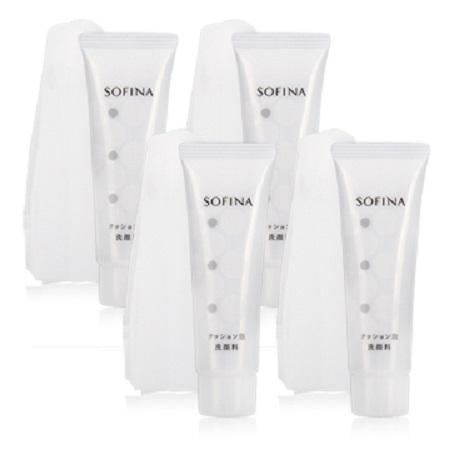 SOFINA 蘇菲娜 彈力泡泡潔顏乳-附專用起泡網(30g)X4