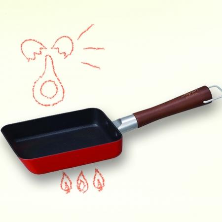 【CB JAPAN 日本】COPAN 迷你玉子燒鍋-熱情紅 9.5cm 小份量 玉子燒 一人料理 琺瑯鍋