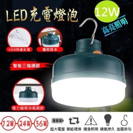 【DaoDi】USB三檔可調LED充電燈泡 12W