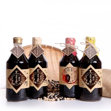 【黑豆桑】輕巧四大天王組(金豆1瓶+缸底1瓶+黑金1瓶+紅麴1瓶)