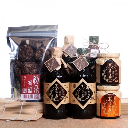 【黑豆桑】粽味飄香組(缸底2瓶+厚黑金2瓶+黑豆1瓶+豆瓣1瓶+冬菇1包)
