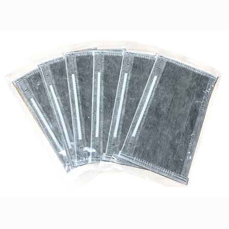 台灣製 四層活性碳平面口罩(單片包裝)50片/包