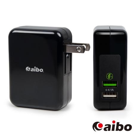 aibo QC3.0 5V/9V/12V 雙USB勁速快充器(支援Type-C充電)