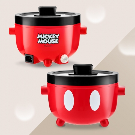 【Disney迪士尼】米奇多功能陶瓷電火鍋(MK-HC2101)