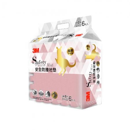 【3M】新升級兒童安全防撞地墊32cm-6片(乾燥玫瑰)