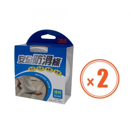 【3M】 室內用防滑條 透明舒適型 2吋-2入組