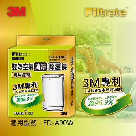 【3M】雙效清淨除濕機專用濾網(濾網型號:FD-A90RF / 適用機型:FD-A90W)