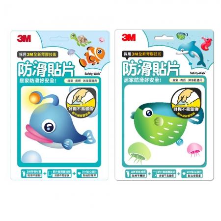 3M 防滑貼片 -海洋6片+ 海洋生物6片 (共12片)