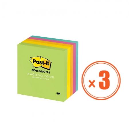 3M 便利貼 654-5GU-3包組 (1包5本,共15本) 7.6公分