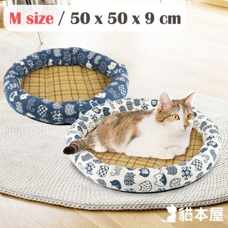 貓本屋 日式和風寵物涼蓆墊(M號/50x50cm)