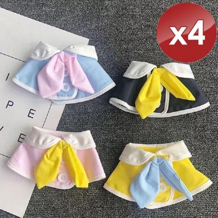 【QIDINA】寶貝寵物高質感圍兜/口水巾-4入組