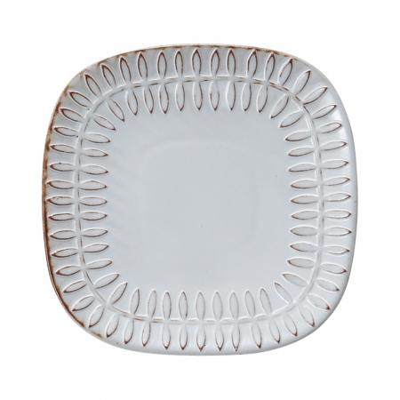 【MEISTER HAND 日本】FLOR 蛋糕盤葉-方形白盤