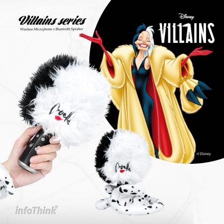 【InfoThink】迪士尼Villains壞美力系列變音超大麥克風x無線藍牙音響(庫伊拉)