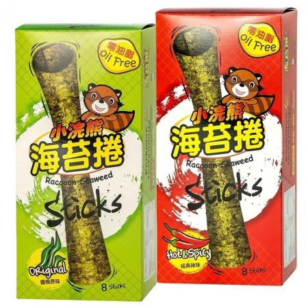 【小浣熊】泰國海苔捲 醬燒原味/香脆麻辣 超值6入組