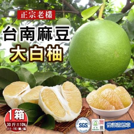 預購【麻豆張家】正宗40年老欉大白柚30斤11-15顆x1箱