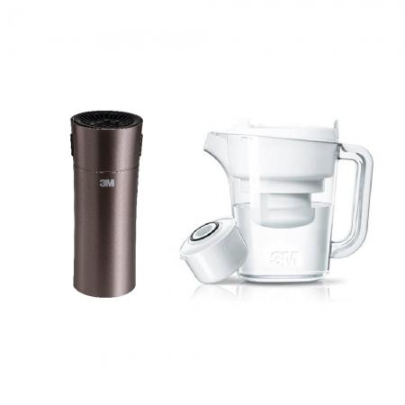 3M 淨呼吸個人隨身型空氣清淨機-琥珀金 FA-C20PT 加碼贈3M 濾水壺一個(1壺1心)