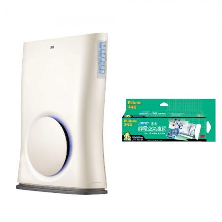 3M Slimax紫外線光觸媒殺菌超薄型負離子空氣清淨機加碼贈3M 淨化級捲筒濾網9808-RV