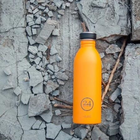 特殺【24Bottles】城市水瓶 500ml -極致橙 超輕水瓶 不鏽鋼
