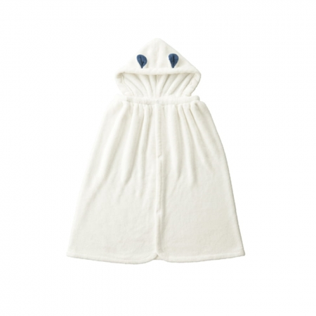 【CB JAPAN 日本】動物造型超細纖維披巾(有帽)-北極熊白