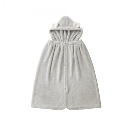 【CB JAPAN 日本】動物造型超細纖維披巾(有帽)-無尾熊灰