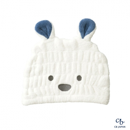 【CB JAPAN 日本】動物造型超細纖維浴帽-北極熊白
