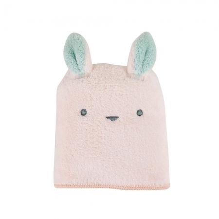 【CB JAPAN 日本】動物造型超細纖維擦頭巾-小白兔粉