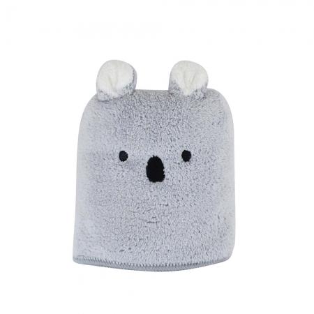 【CB JAPAN 日本】動物造型超細纖維擦頭巾-無尾熊灰
